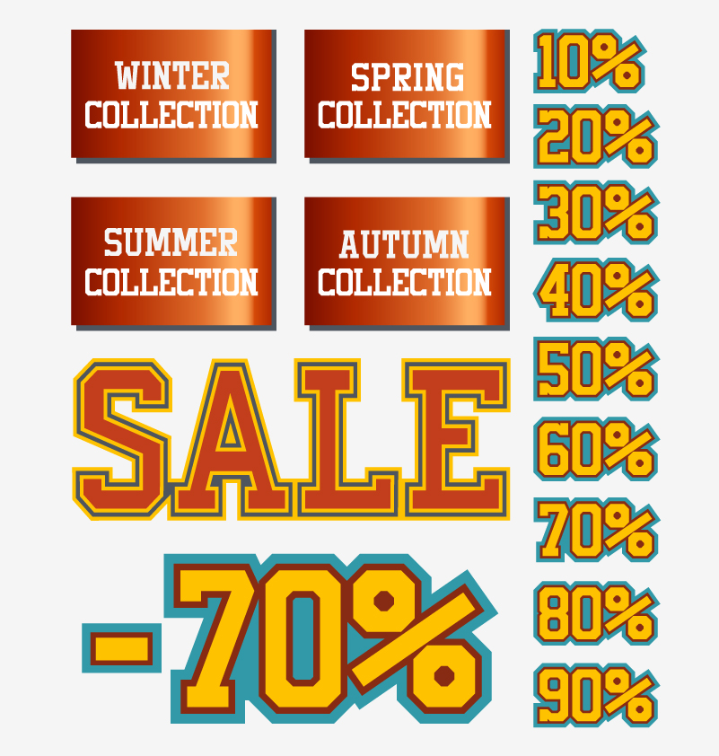 Four Seasons Sale Vector