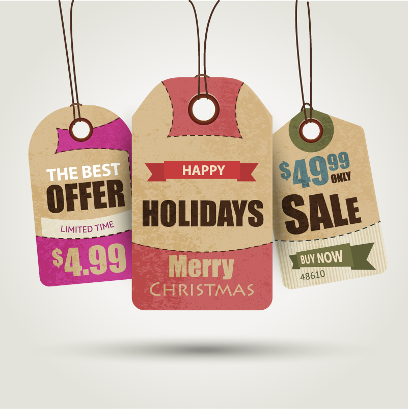 Happy Holiday Sale Vector