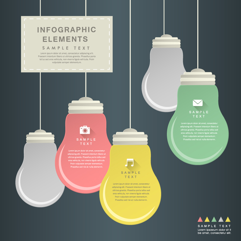 Infographic Bulb Paper Cut Vector