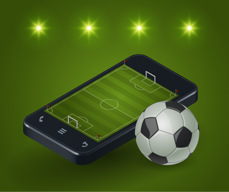 Mobile Soccer Field Vector
