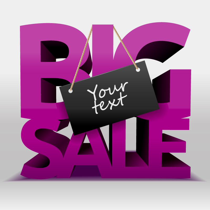 Purple Big Sale Vector