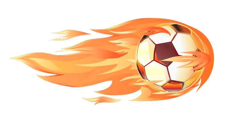 Red Fiery Soccer Vector