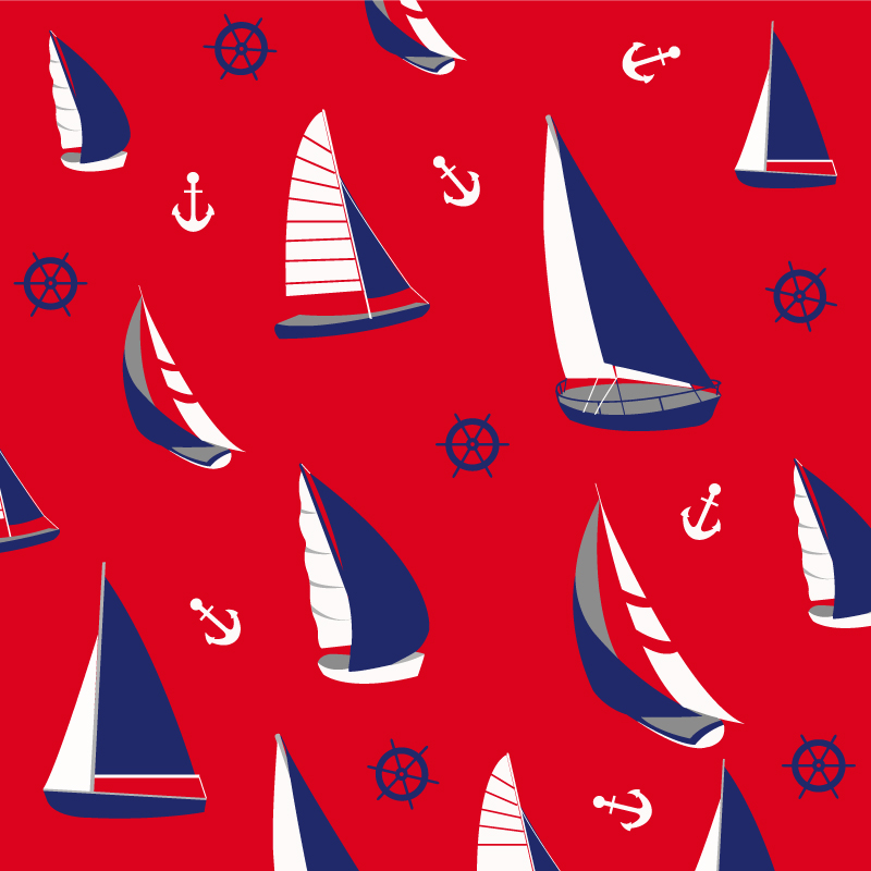 Retro Sailing Background Vector