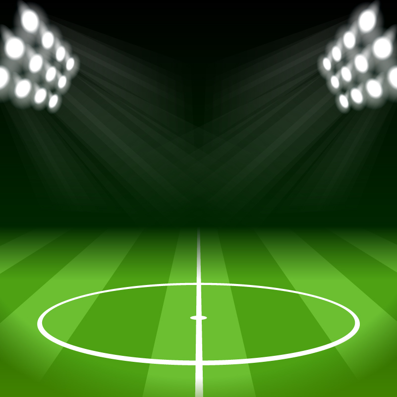 Spotlight Football Field Vector
