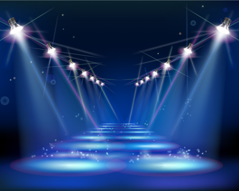 Stages and Spot Lights Vector