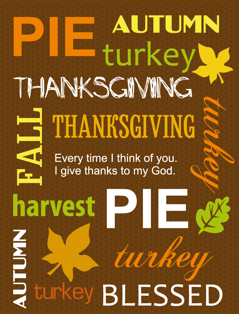 Thanksgiving Day Autumn Turkey Vector