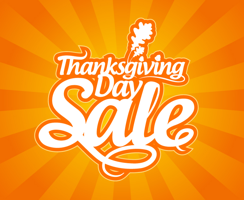Thanksgiving Day Sale Font Design Vector