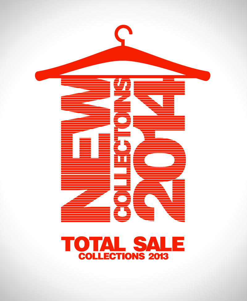 Total Sale New Collections Vector