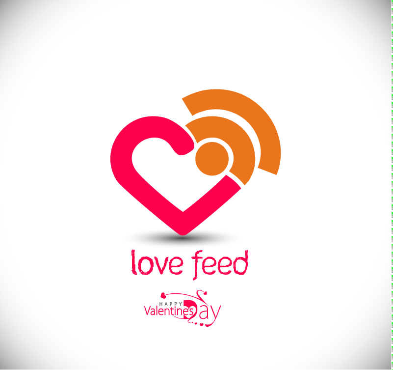 Valentine's Day Love Feed Vector
