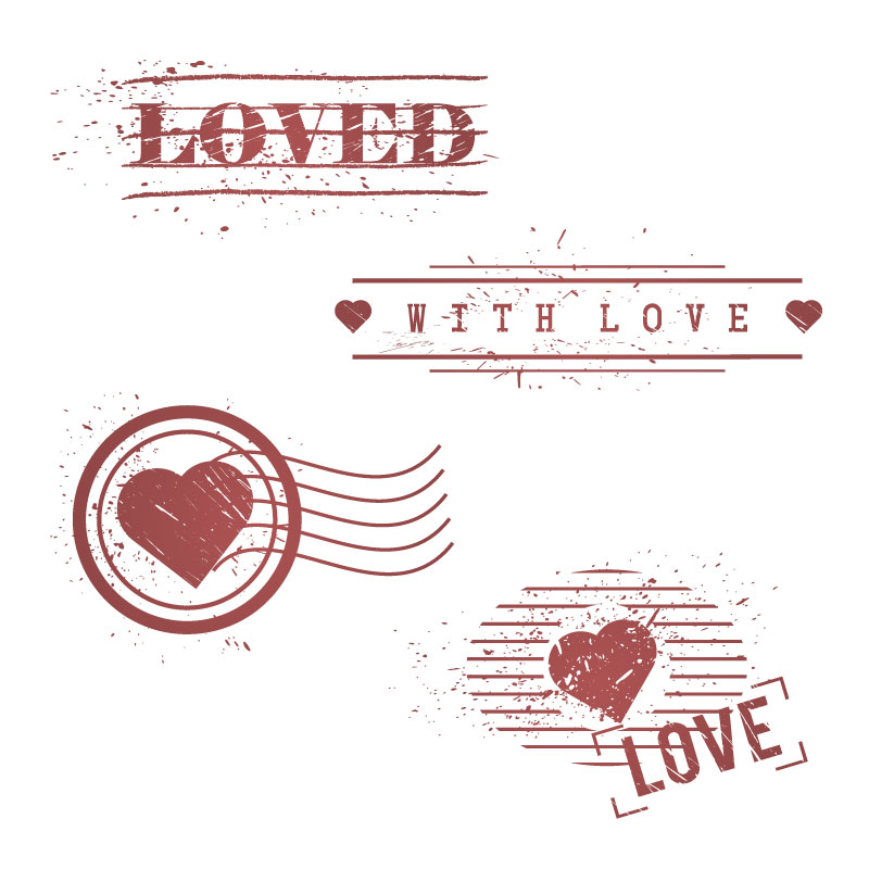 Valentine's Day Retro Loved Vector
