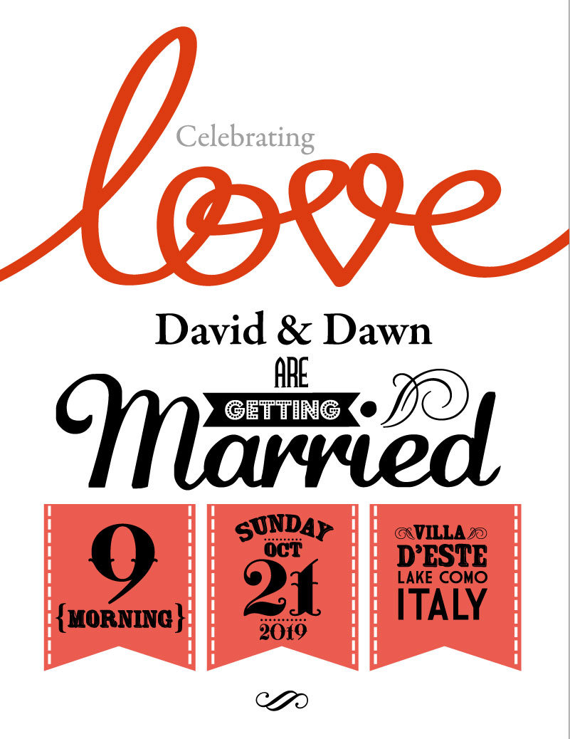 Wedding Day Celebrating Love Married Vector