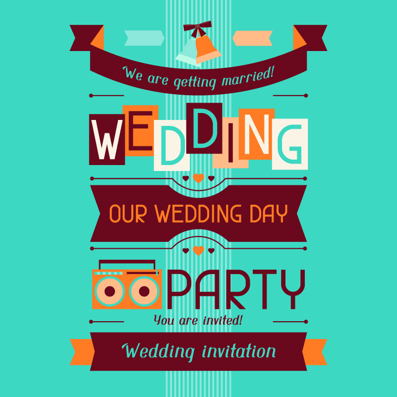 Wedding Day Wedding Inivitation Vector