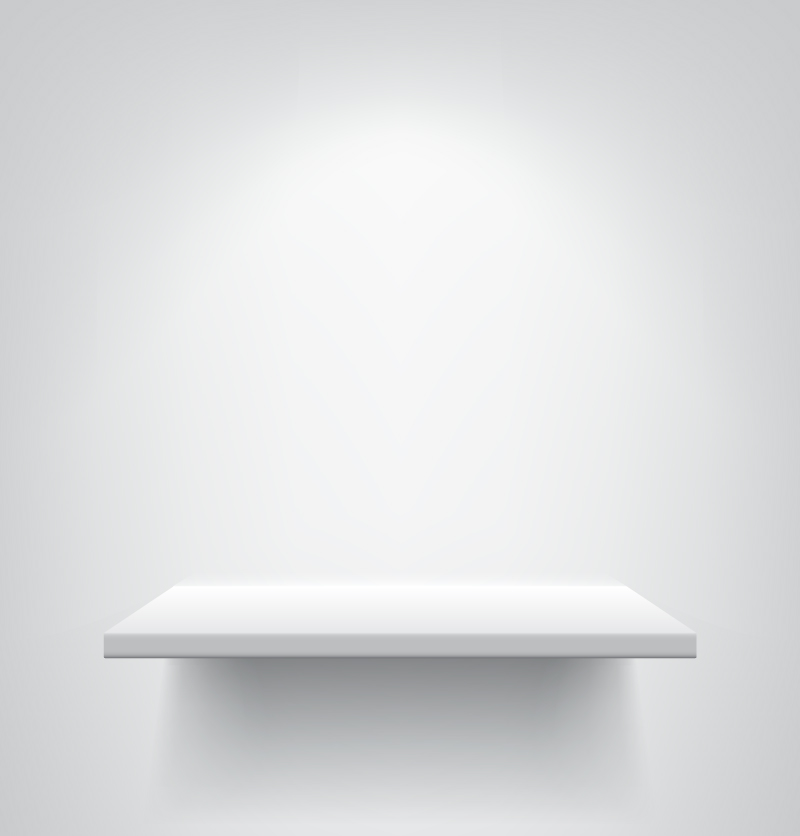 White Showcase Design Vector
