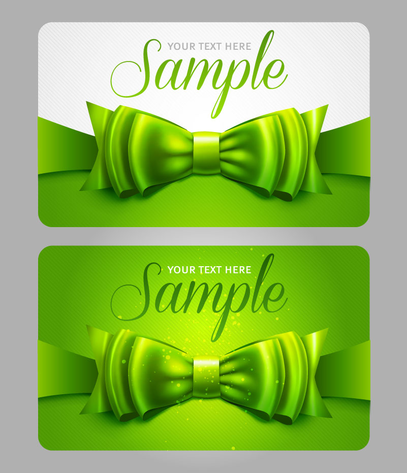 Bow Business Card Vector
