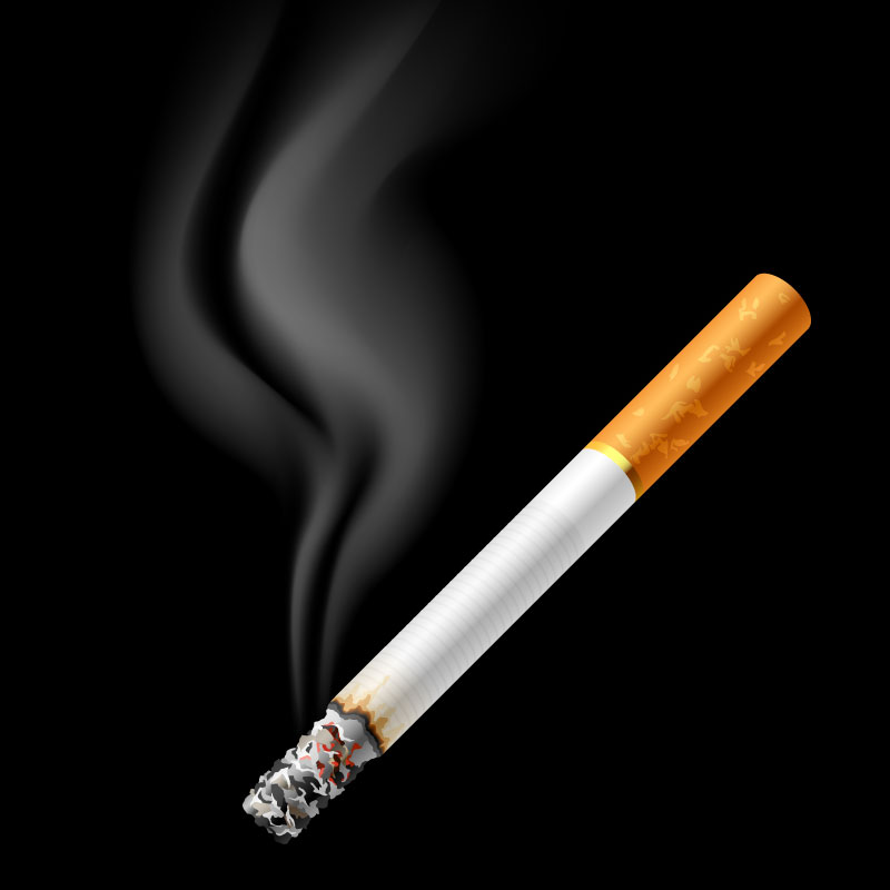 Burning Cigarette Background Vector