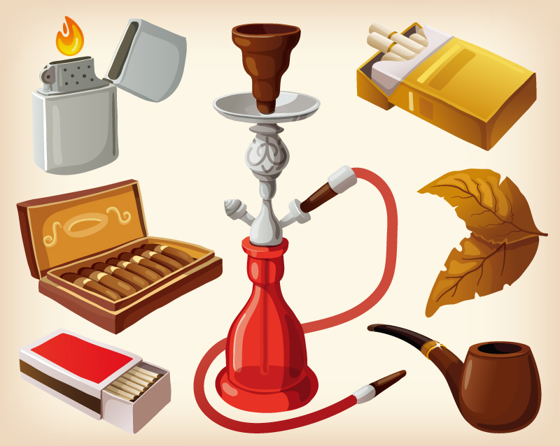 Cartoon Smoke Elements Design Vector