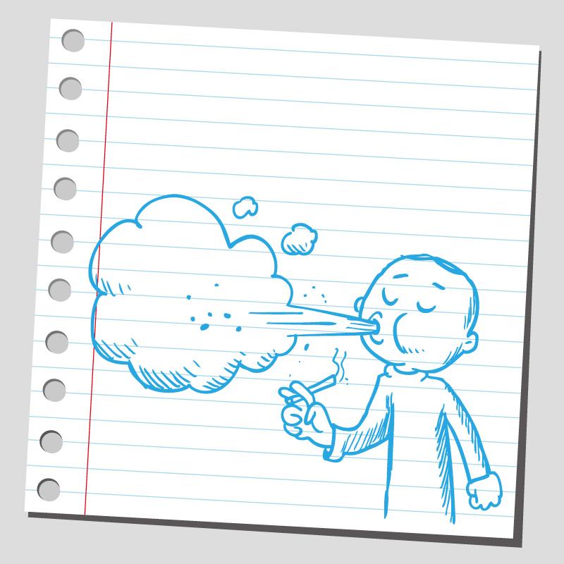 Cartoon Smoking Character Vector