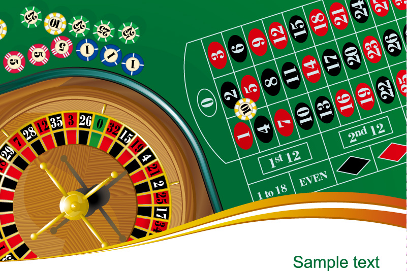 Casino Bargaining Chip Vector