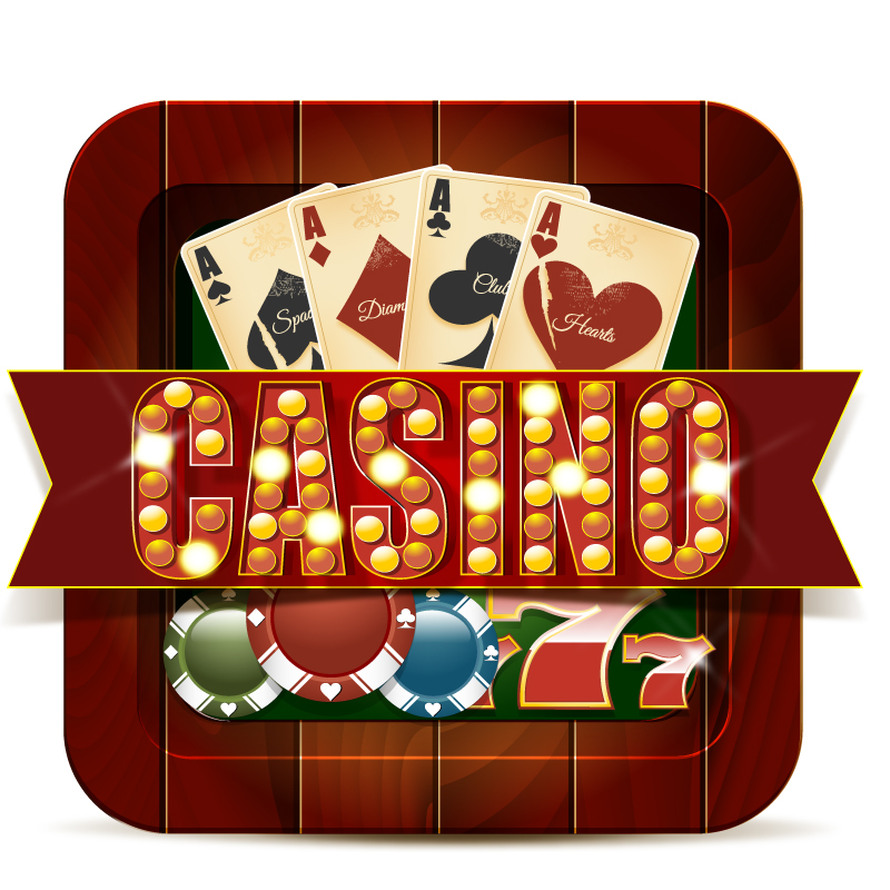 Casino Cards and Chips Background Vector