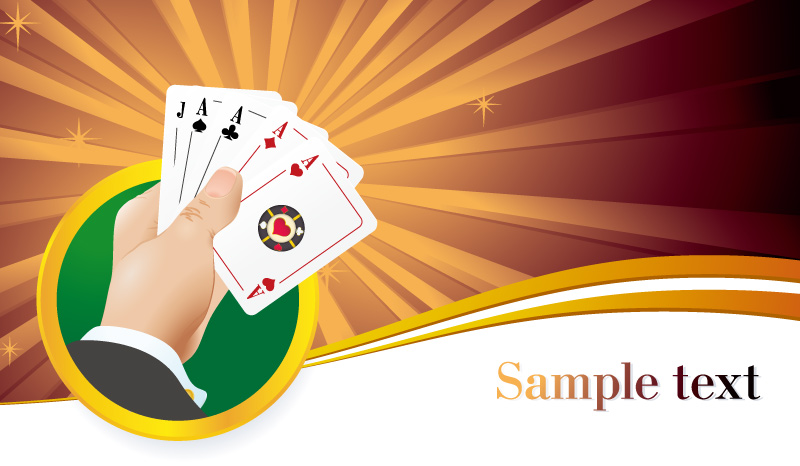 Casino Gesture Cards Vector