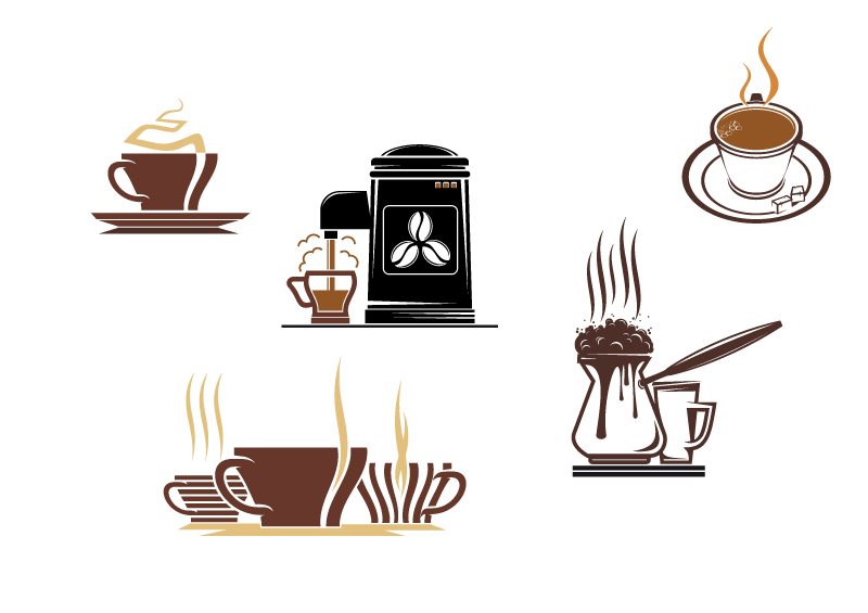 Coffee Icons Design Vector