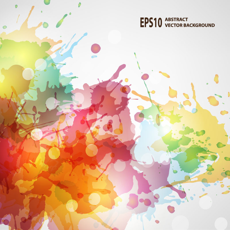 Colorful Color Ink Background Vector