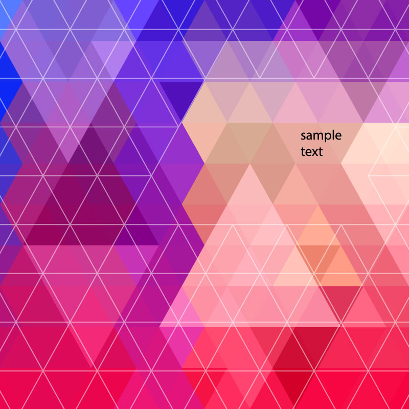Colorful Triangle Geometric Background Vector
