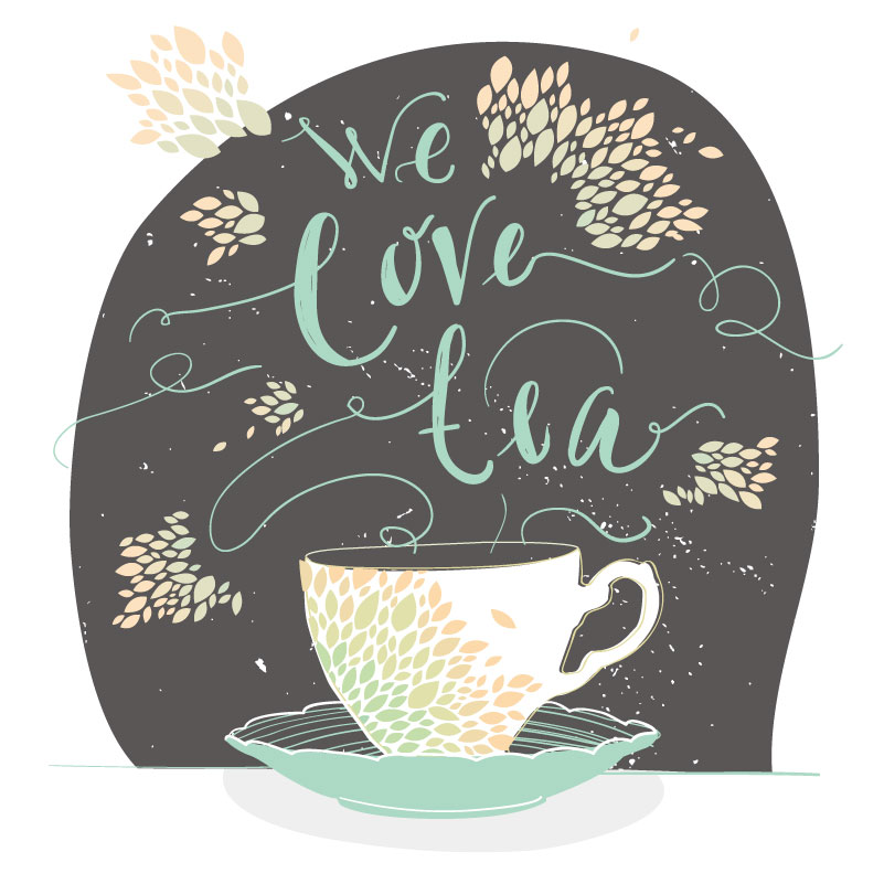 Creative Tea Illustrator Vector