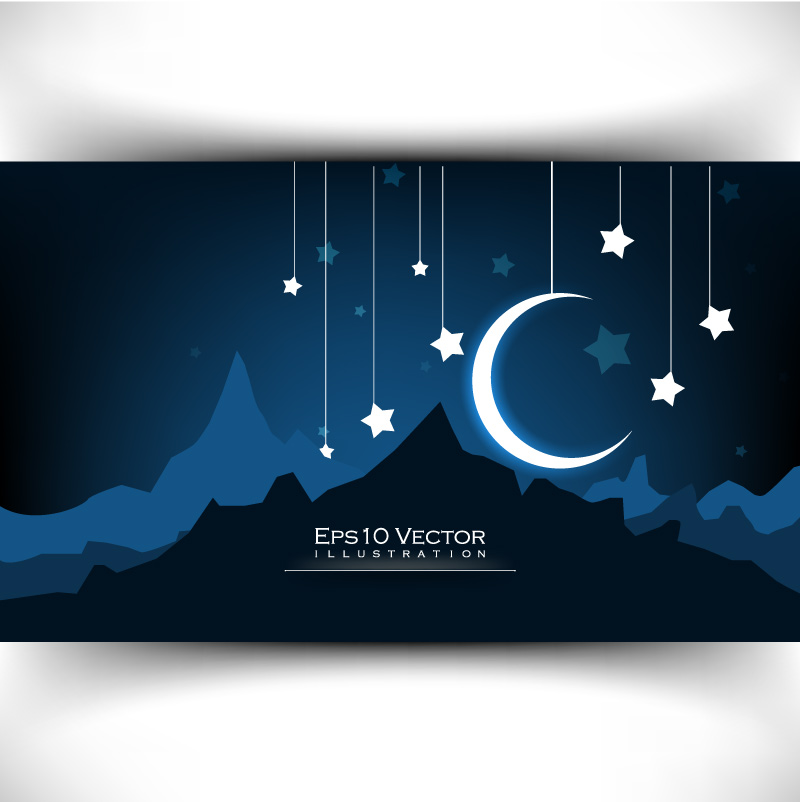 Exquisite Crescent illustrator Vector