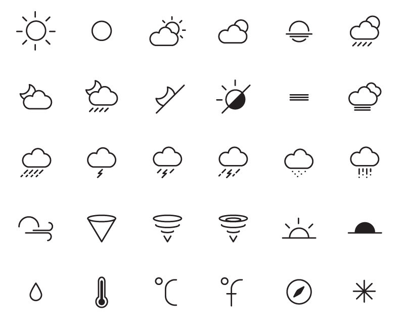 Fine Weather Icons Vector