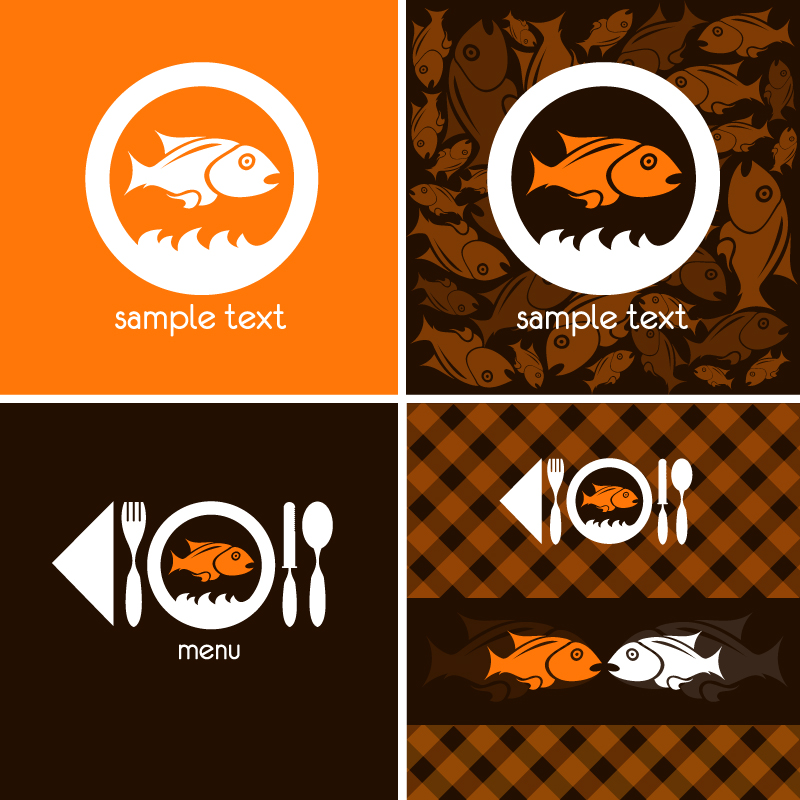 Fish Decorative Menu Vector