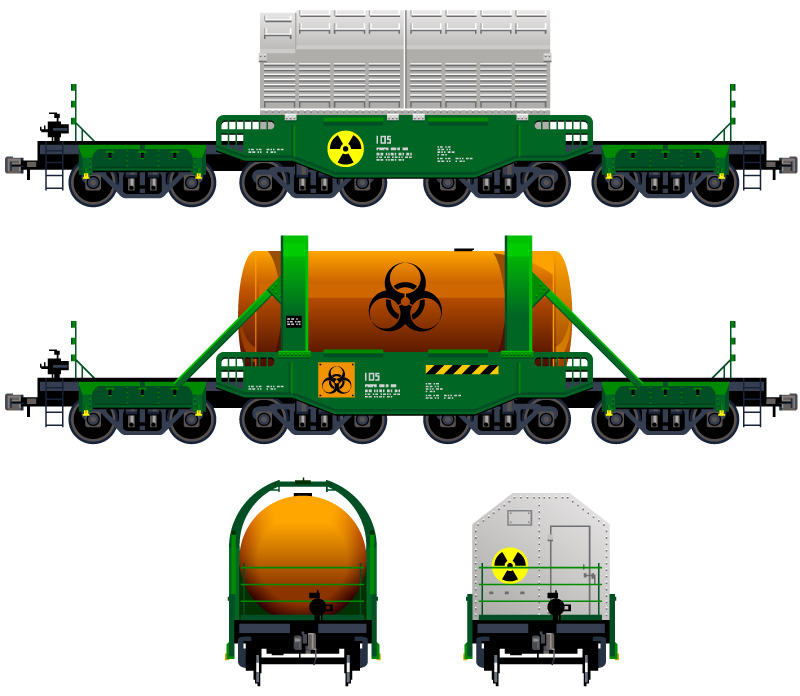 Freight Train Design Vector