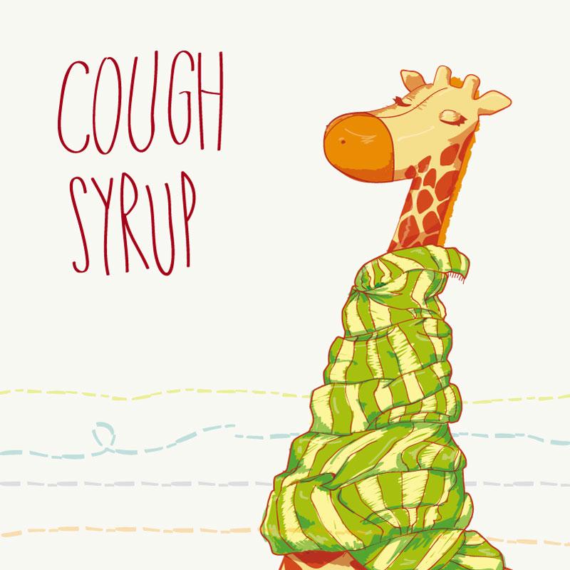 Giraffe Cough Syrup Vector