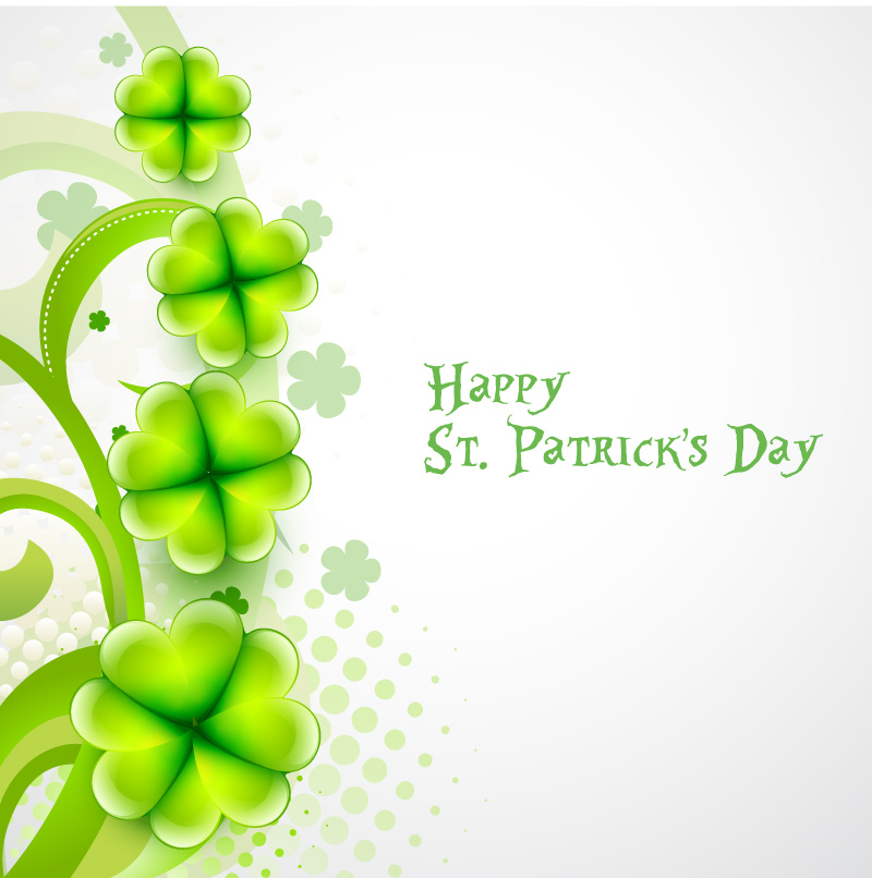 Green Happy St. Patrick's Day Vector