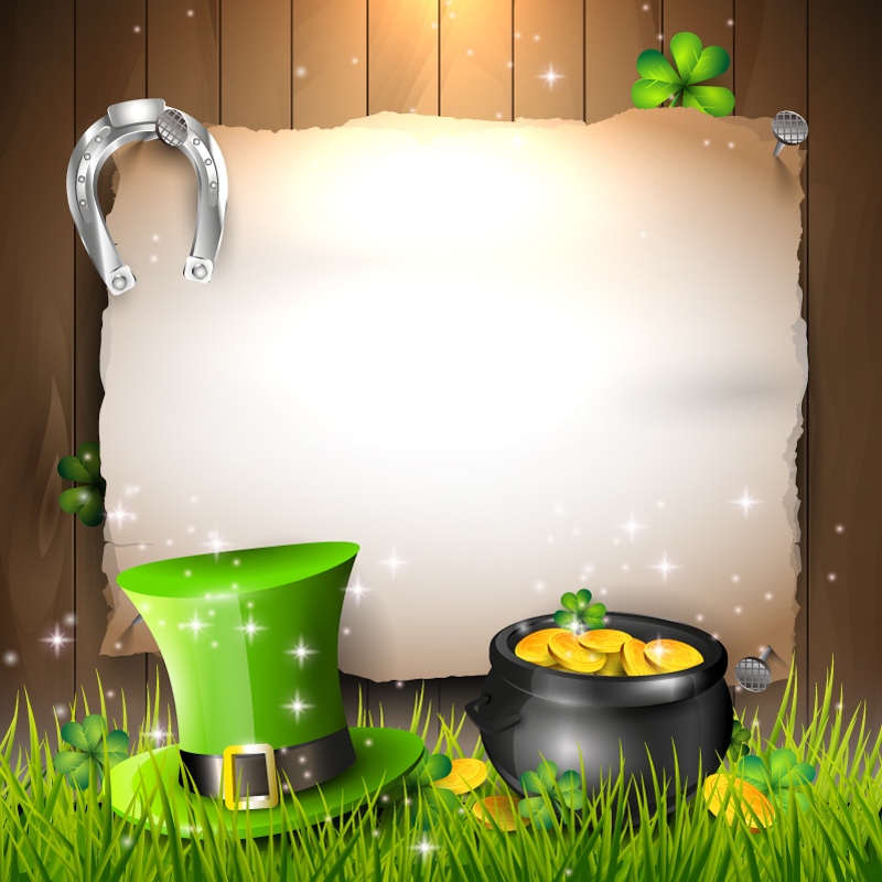 Happy St. Patrick's Day Background Vector