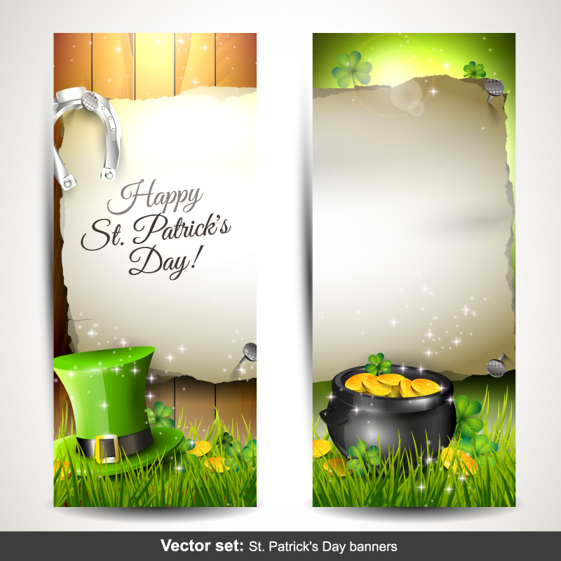 Happy St. Patrick's Day Banner Vector