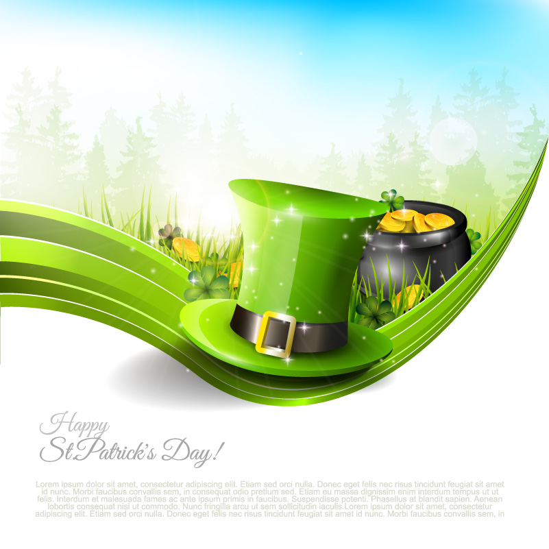 Happy St. Patrick's Day Green Hat Vector