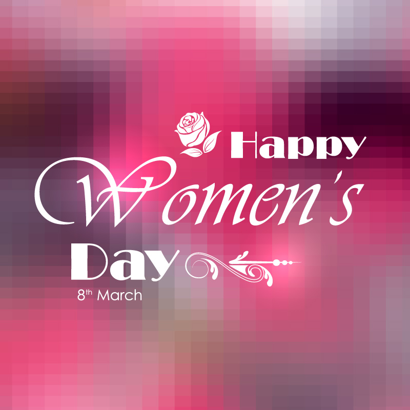 Happy Women's Day Beauty Font Design Vector