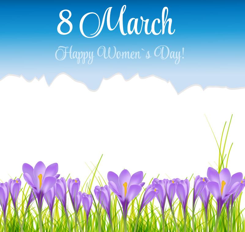 Happy Women's Day Carnation Vector