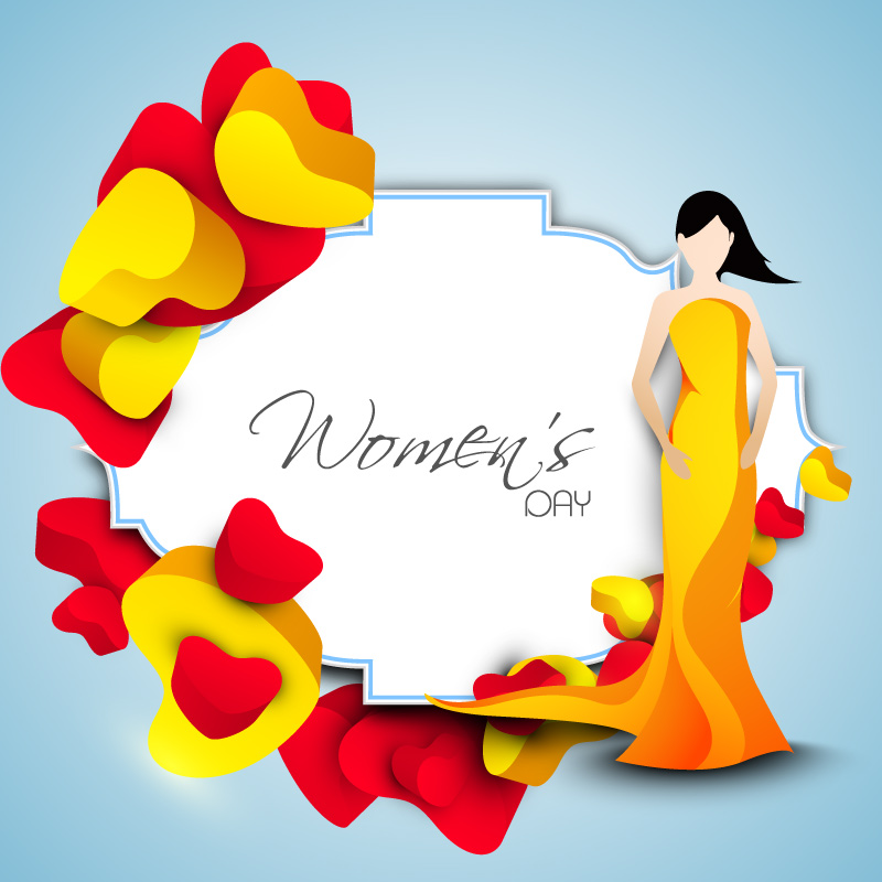 Happy Women's Day Dress Vector