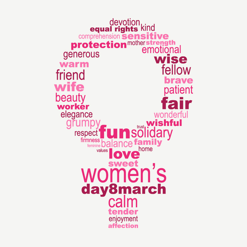 Happy Women's Day Font Pattern Vector