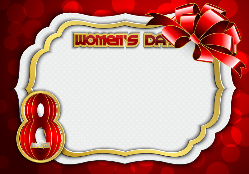 Happy Women's Day Frames Vector