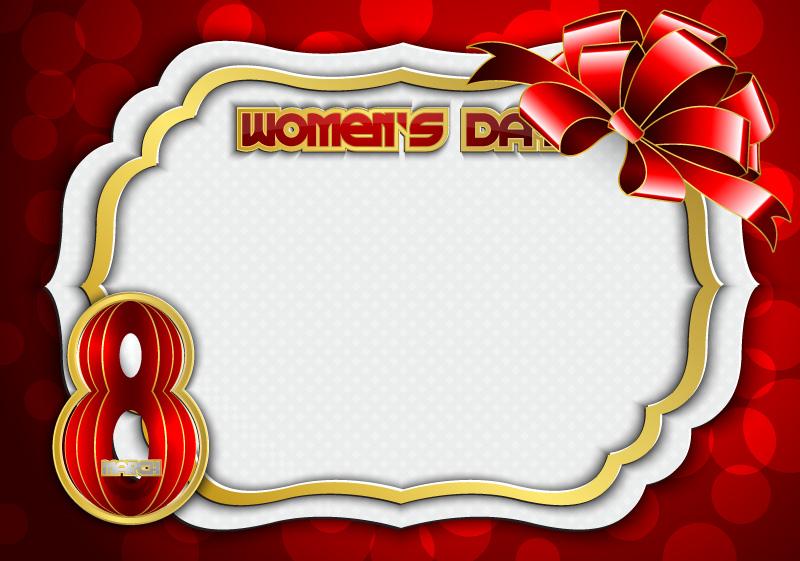 Happy Women's Day Frames Vector