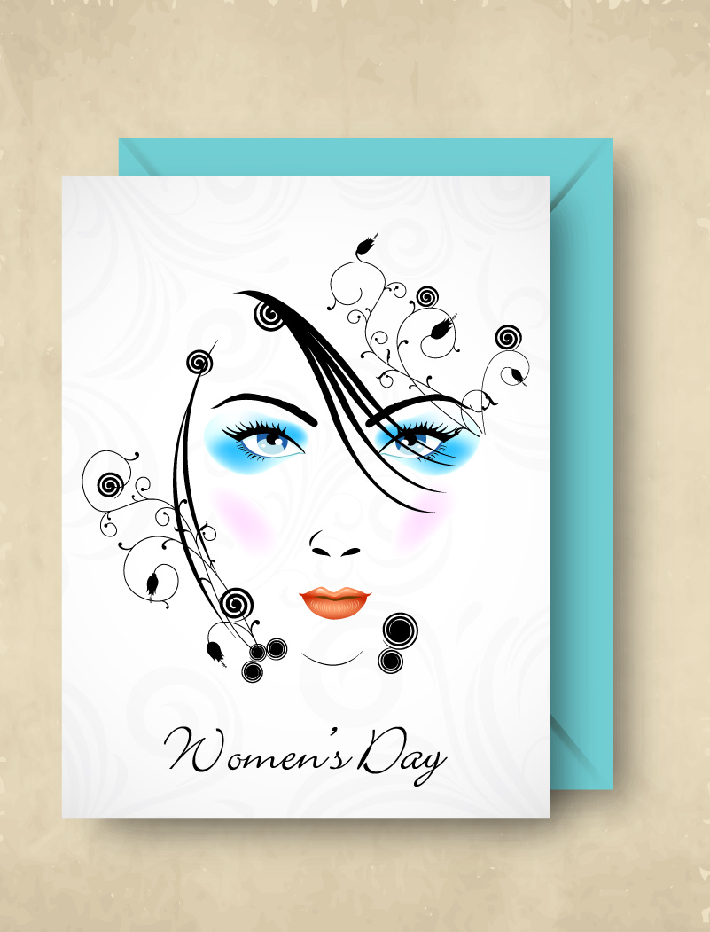 Happy Women's Day Stick Figure Vector