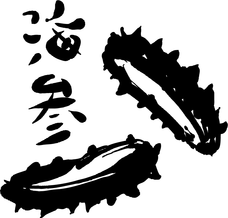 Ink Painting Sea Cucumber Vector
