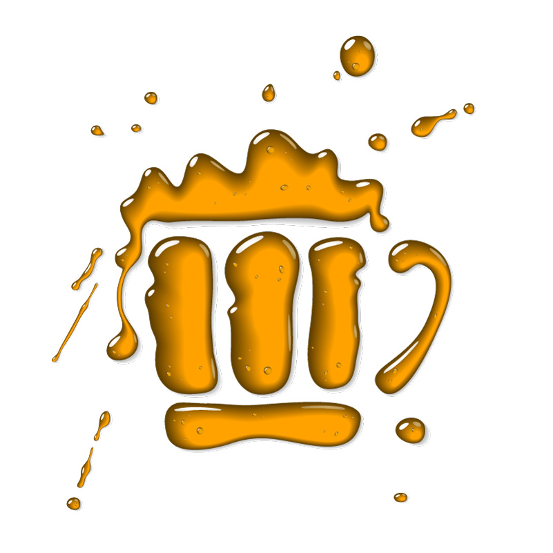 Liquid Beer Mug Logo Vector