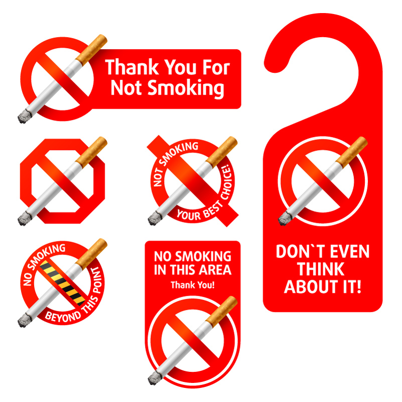 No Smoking Warning Sign Vector | Free Vector Graphic Download