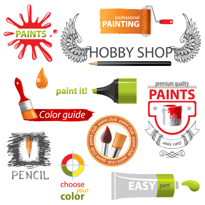 Paints Elements Vector