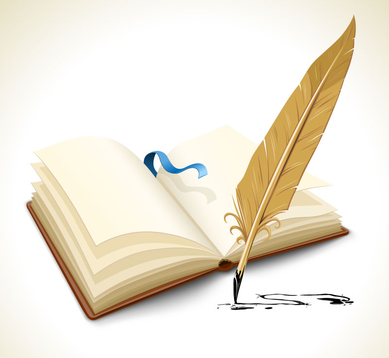 Quill Pen and Notepad Vector
