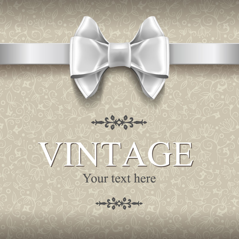 Retro Bow Background Vector